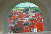 Historic town Cesky Krumlov (Czech republic). — Stock Photo