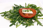 Tomato, cheese and rocket salad. — Stock Photo