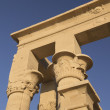 Detailed view at The Temple of Isis at Philae  ( Egypt) — Stock Photo