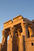 Temple of Kom Ombo in sunset light (near river Nile, Egypt ) — Stock Photo