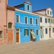 Stock Photo: Color houses in island Burano (Italy)
