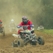 Stock Photo: 3 Quad motorbike racers