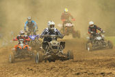 5 Quad motorbike competitors — Stock Photo