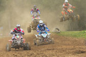 Group Quad motorbikes racers — Stock Photo