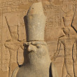Statue in Edfu temple (Egypt) — Stock Photo