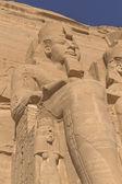 Sculpture of King Ramses II in Abu Simbel Temple — Stock Photo
