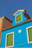 Blue house in Burano (Italy) — Стоковое фото
