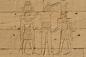 Ancient Egyptian writing on stone in Egypt — Stock Photo