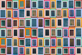 Set of 78 color windows of the island Burano — Stock Photo