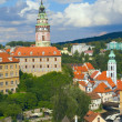 Stock Photo: Chateau and the town of Cesky Krumlov (Czech Republic).
