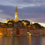 The old town Rovinj at night (Croatia, Europe) — Stock Photo #9462441