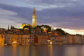 The old town Rovinj at night (Croatia, Europe) — Stock Photo