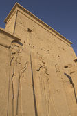 Carving of Egyptian god on pylon (Island Philae, Egypt) — Stock Photo