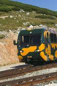 Train on the mountain railway in Schneeberg. — Stock Photo