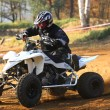 Quad motorbike rider (detailed view) - Stock Photo