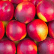 Nectarines in a market — Foto de Stock
