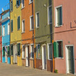 Color houses at island Burano — Stock Photo