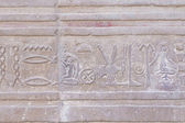 Hieroglyph in The Temple of Kom Ombo ( Egypt) — Stock Photo