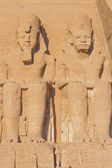 Sculptures in the Abu Simbel Temple (Egypt) — Stock Photo