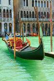 Gondola on Canale Grande in Venice (Italy) — Stock Photo