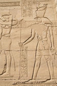 Carving of Egyptian god on pylon in Temple of Kalabsha ( Egypt) — Stockfoto