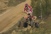 Qaud motorbike high jump — Foto Stock