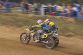 Sidecacross race (panning) — Zdjęcie stockowe