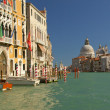 Canal Grande with Basilica Santa Maria della Salute.(Italy) — Stock Photo