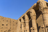 Detailed view of the pillars (Edfu, Egypt) — Stock Photo