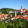 Historic city of Cesky Krumlov (Czech Republic) - Stock Photo