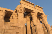 Temple of Kom Ombo in sunset light (Kom Ombo, Egypt ) — Stockfoto