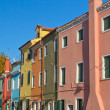 Color houses in Venice island Burano (Italy) — Stock Photo