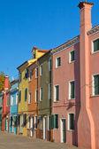 Color houses in Venice island Burano (Italy) — Stockfoto