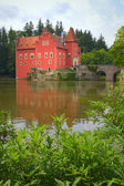 The red State Chateau Cervena Lhota — Stock Photo