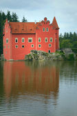 The red Chateau Cervena Lhota (Czech Republic, Eastern Europe) — Stock Photo