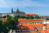 Prague. St. Vitus cathedral and Prague castle — Stock Photo