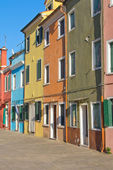 Color houses in row — Stock Photo