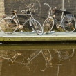 Two rusted bicycles — Stock Photo