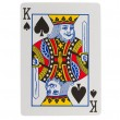 Stock Photo: Old playing card (king)