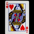 Playing card (queen) — Zdjęcie stockowe