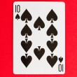 Old playing card (ten) — Stock Photo #10657726