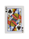 Old playing card (queen) — Stock Photo