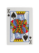 Old playing card (king) — Stock Photo