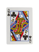 Old playing card (queen) — Stok fotoğraf
