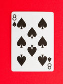 Old playing card (eight) — Stock Photo