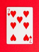 Old playing card (seven) — Zdjęcie stockowe
