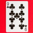 Old playing card (nine) — Stock Photo
