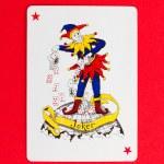 Playing card (joker) — Stock Photo