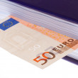 "Foto Stock: Money ""in book"" (50 euro bill)"