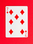 Old playing card (seven) — Stock Photo
